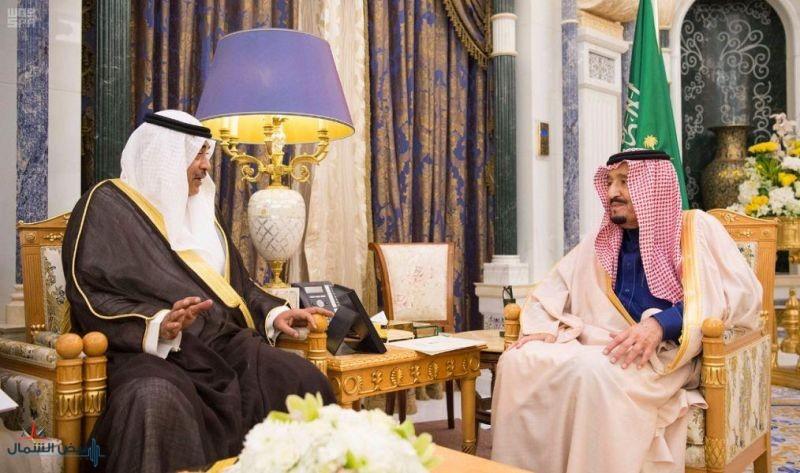 خادم الحرمين يتسلم رسالة من أمير دولة الكويت