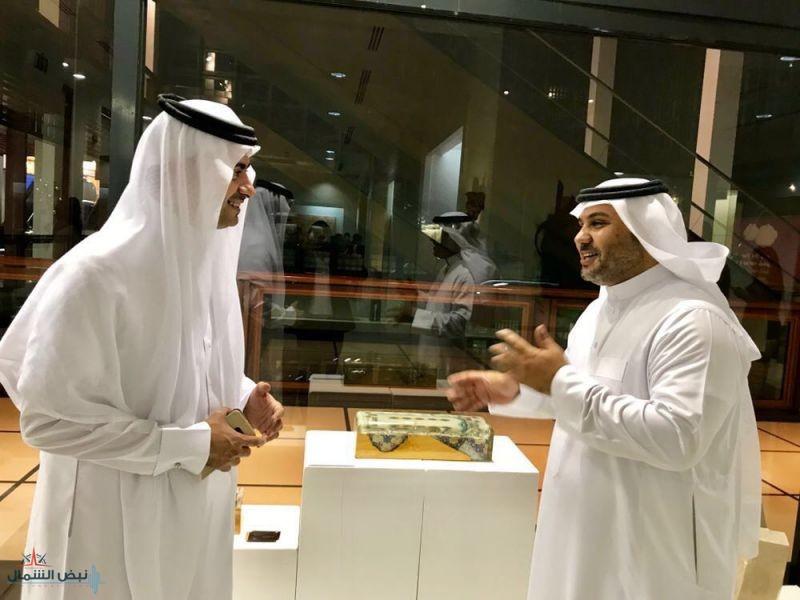 النحات الثقفي في ملتقى الفن الاسلامي المعاصر بالامارات