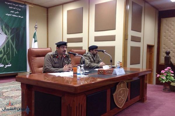 العقيد جمال بن سلامة الوقيد يلقي محاضرة بعنوان مكافحة الفساد الإداري