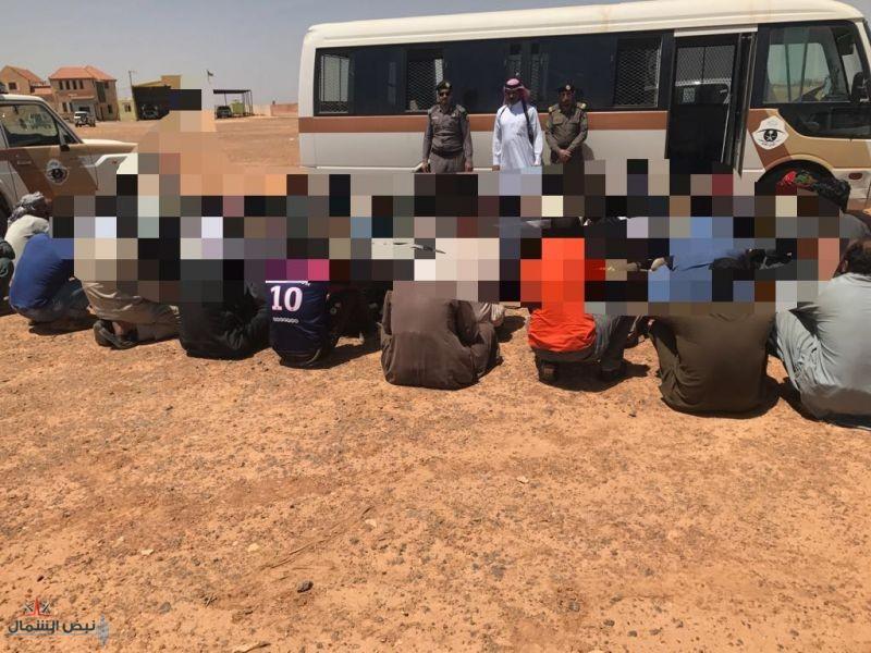 شرطة محافظة طبرجل تواصل حملات وطن بلا مخالف (مركز شرطة ميقوع ومخفر شرطة بسيطا)