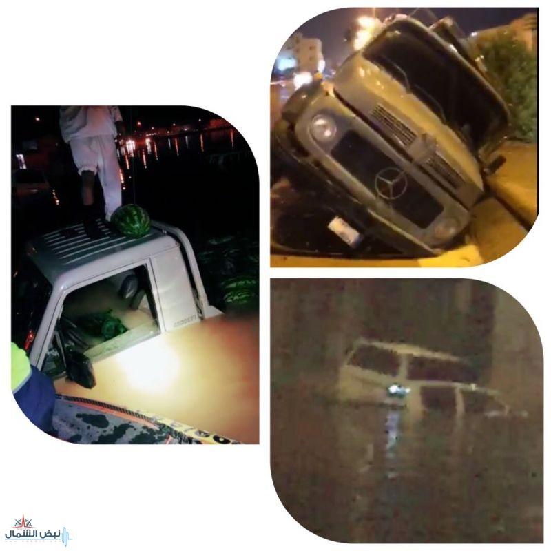 بالفيديو : أمطار القريات تكشف المستور.. وطرق تعلق بها السيارات..!
