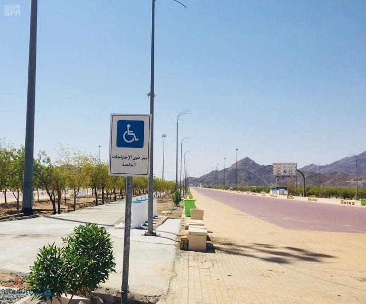 تنفيذ ممر خاص لذوي الاحتياجات الخاصة بين مشعري عرفات ومزدلفة