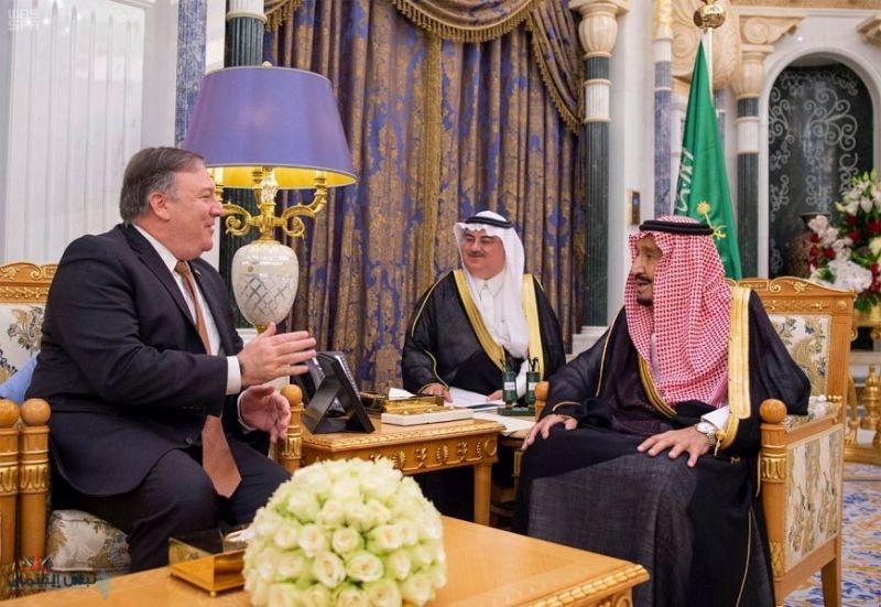 خادم الحرمين الشريفين يستقبل وزير خارجية الولايات المتحدة الأمريكية