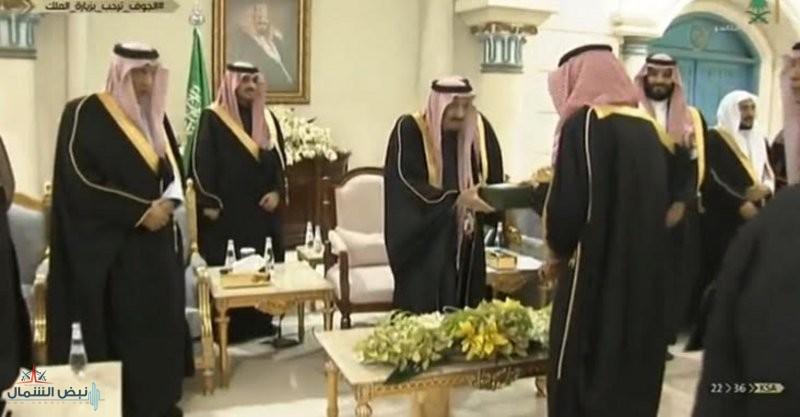 خادم الحرمين الشريفين يكرِّم المتميزين بالجوف خلال حفل الأهالي