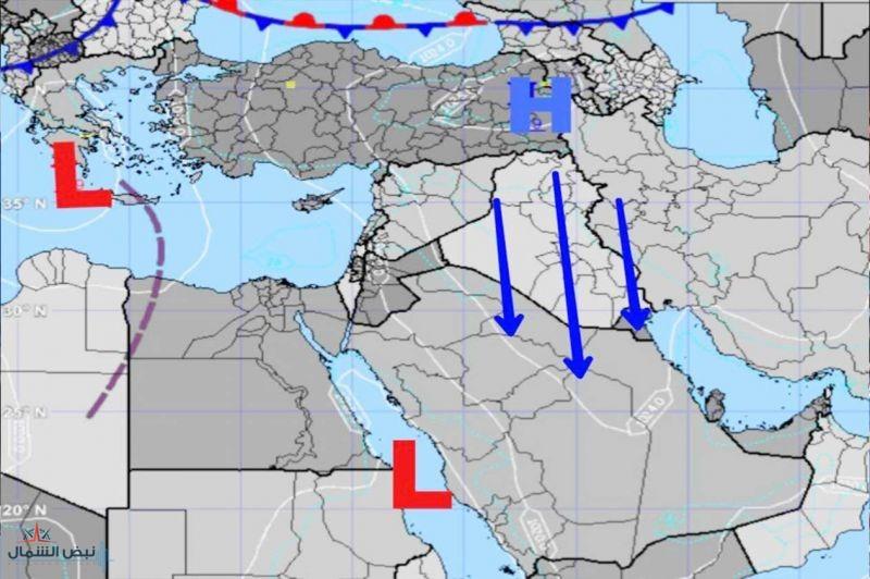 كراني: منخفض جوي مصحوب بكتل هوائية على السعودية