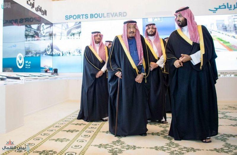 خادم الحرمين الشريفين يطلق 4 مشاريع نوعية كبرى بـ 86 مليار ريال في مدينة الرياض