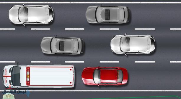 """""""المرور"""": ملاحقة مركبات الطوارئ أثناء استعمال المنبهات الخاصة بها مخالفة.. وهذه عقوبتها"""