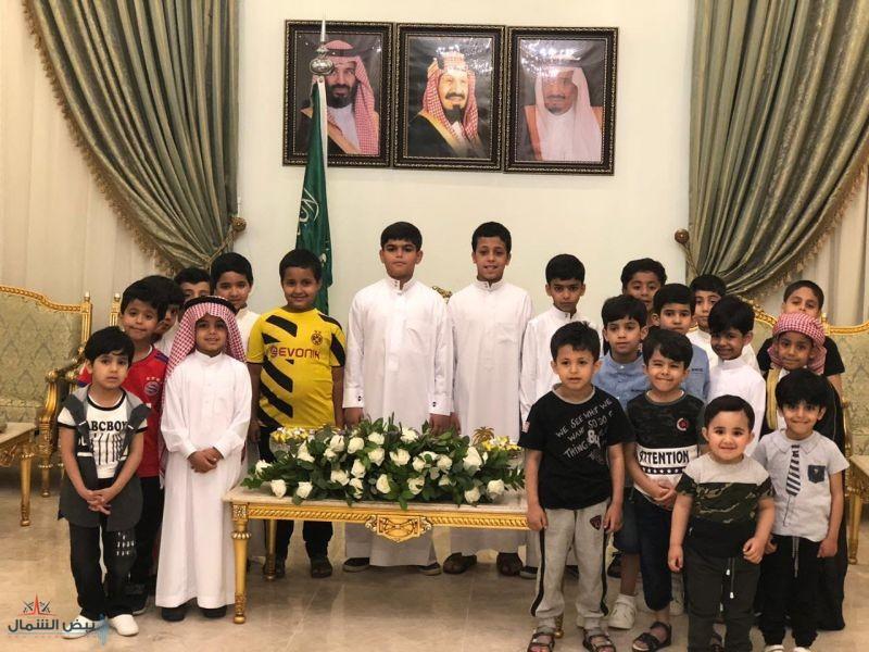 حرم سمو أمير الجوف تستقبل أيتام جمعية البر