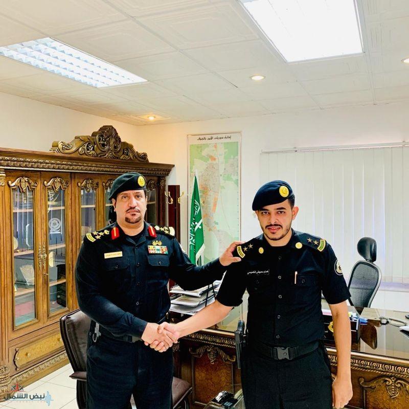 ترقية الملازم أول همام الخميسي وتعيين الملازم خالد الغامدي بإدارة دوريات الأمن بمنطقة الجوف