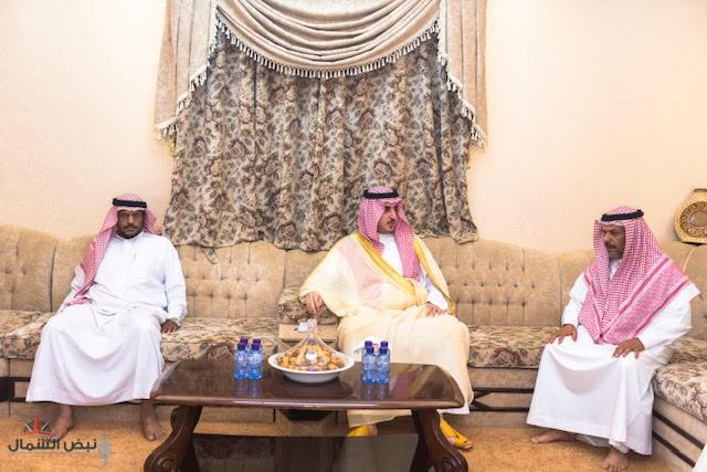 أمير الجوف يعزي أسرة الزهراني بوفاة شقيقهم