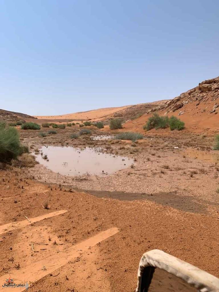 """أمطار خفيفة تسقط على منطقة """"الغينة"""" جنوب طبرجل"""