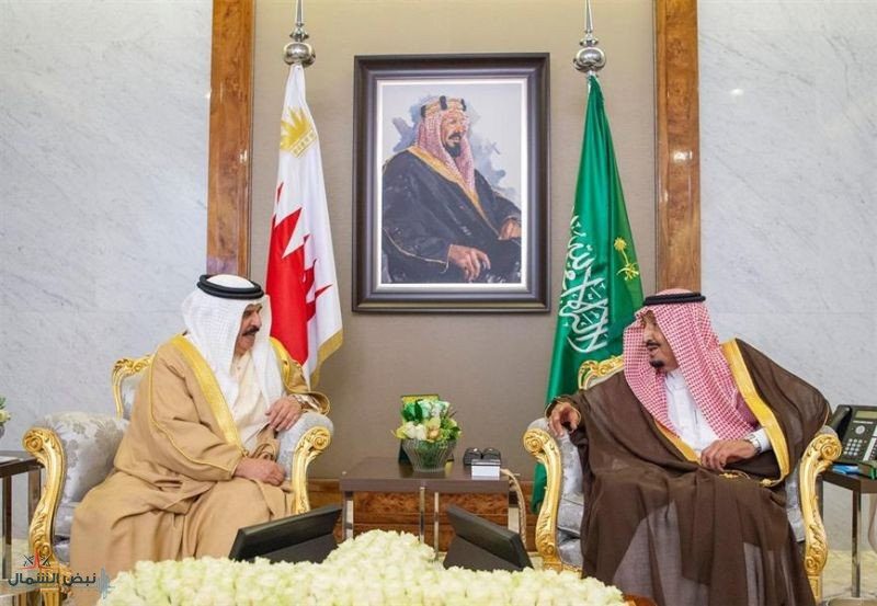 خادم الحرمين يستقبل ملك البحرين ويعقدان جلسة مباحثات رسمية