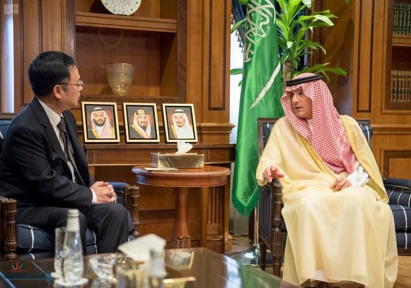 """""""الجبير"""" يستعرض العلاقات الثنائية مع سفير الصين بالمملكة"""