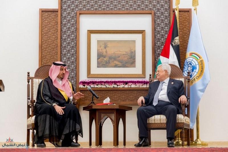 """الرئيس الفلسطيني: قدوم المنتخب السعودي لـ""""رام الله"""" يجسد العلاقة التاريخية بين الدولتين"""