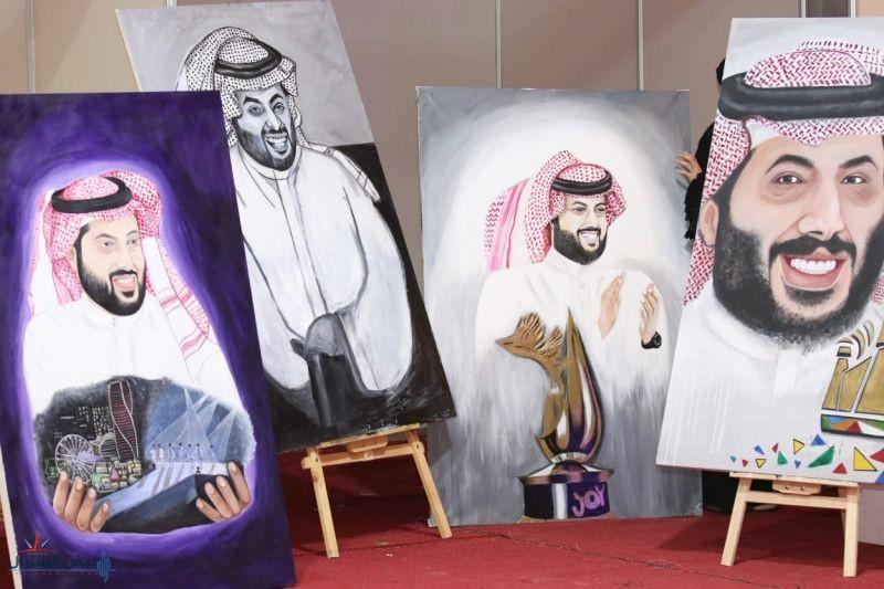 مهرجان القريات الدولي للطيور يعلن الفائزين بمسابقة أجمل رسم لوحة بورتريه لمعالي المستشار تركي آل الشيخ