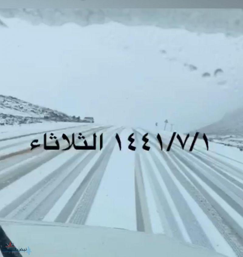 بالفيديو.. مشاهد حية عن سقوط الأمطار والبرد والثلوج على مواقع شاسعة من مناطق الشمال