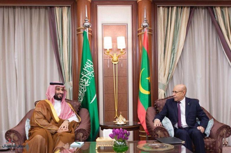 ولي العهد يجتمع بالرئيس الموريتاني