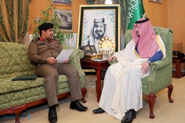 أمير الجوف بالنيابة يستقبل مدير شرطة المنطقة