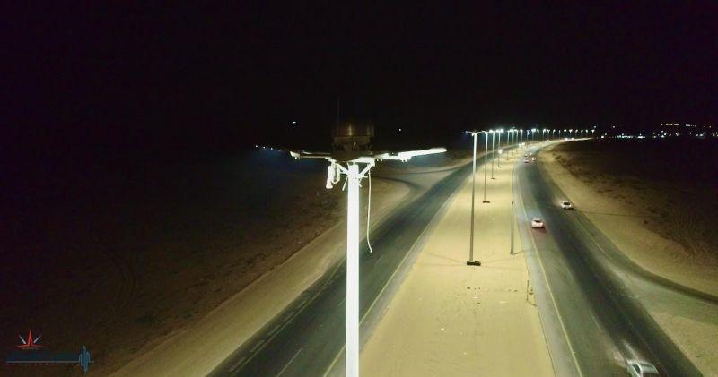 أمانة الجوف تُنهي  المرحلة الثانية من مشروع إنارة طريق الأمير عبدالإله