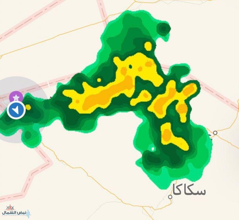 """الحالة الجوية الماطرة """"سقيا"""" تسقي بمشيئة الله محافظات منطقتي الحدود الشمالية والجوف"""