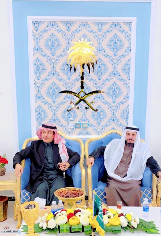 مسلم ضيف الله الصخيل الشراري يُقيم مأدبة عشاء على شرف الشاعر سعد بن ناصر السبيعي