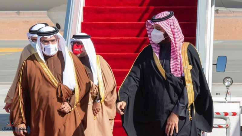 ولي العهد في مقدمة مستقبلي وفود القمة الخليجية الـ41