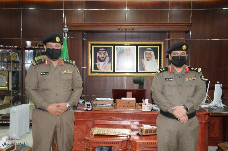 مدير شرطة منطقة الجوف يقلد العقيد عبدالله السراح رتبة عميد