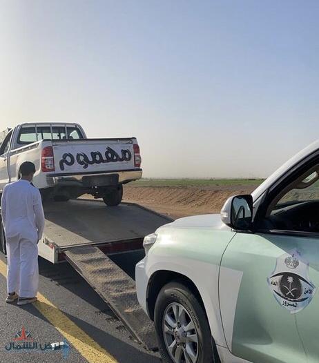 مرور الجوف يضبط قائد مركبة مارس التفحيط في طبرجل