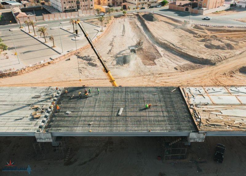 أمانة الجوف: إنجاز 70% من جسر طريق الملك خالد بمدينة سكاكا