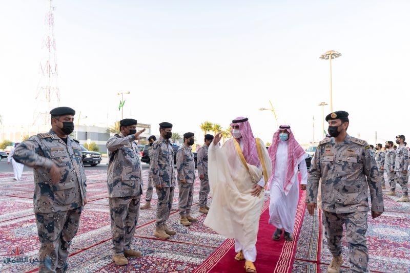 سمو أمير منطقة الجوف يستهل جولته التفقدية لمحافظات المنطقة بتفقد قيادة حرس الحدود بالقريات