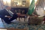 وزير الخارجية يجتمع مع وزير خارجية البحرين