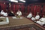 وكيل امارة منطقة الجوف يزور عدد من المواطنين في محافظة القريات