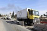 دخول قافلة مساعدات لمدينة دوما المحاصرة