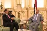 هادي يبحث الأزمة اليمنية مع ولد الشيخ