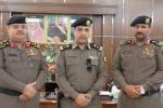مدير شرطة القريات يقلد الرائد الشراري رتبة مقدم