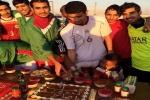 لاعبي المسيرة يحتفلون بعودة العريس الكابتن صالح الشراري