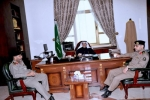 محافظ القريات يلتقي مساعد مدير شرطة منطقة الجوف لشؤون الأمن