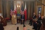 """الرياض.. """"ترامب"""" يلتقي """"السيسي"""" وأمير قطر ويؤكد لملك البحرين: علاقاتنا ستقوى"""