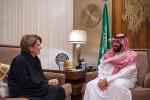 """الأمير محمد بن سلمان يبحث تعزيز التعاون العسكري مع رئيس """"لوكهيد مارتن"""""""