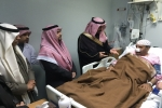 محافظ القريات يزور مستشفى القريات العام للإطمئنان على صحة الفندي والدكتور سلهب