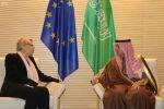 """""""الجبير"""" يلتقي 3 مسؤولات أوروبيات في بروكسل"""
