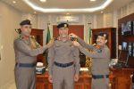 # ترقية عدد من ضباط منسوبي مدني الجوف