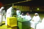 مغادرة ثلاثة شاحنات محملة بالمؤن الغذائية والملابس والبطانيات من القريات تابعة للحملة الوطنية السعودية لنصرة الأشقاء في سوريا