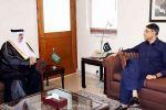 وزير مالية باكستان يلتقي سفير السعودية بإسلام أباد