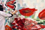 فنانين وفنانات يبدعون برسم أول جدارية بمدينة سكاكا
