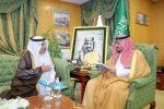 الأمير عبدالعزيز بن فهد بن تركي يستقبل الدكتور الوردة