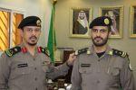 مدير سجون منطقة الجوف يقلد الملازم أول عبدالكريم مليح العنزي رتبة نقيب