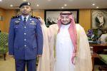 نائب أمير الجوف يقلد المقدم الغامدي رتبته الجديدة
