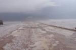بالفيديو والصور : هطول أمطار غزيرة مصحوبة بالبرد على المناطق البرية المحيطة بطريف