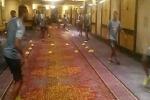 """بالفيديو..منتخب """"الأوروجواي"""" يتدرب في بهو الفندق قبل ساعات من نزاله مع الأخضر"""